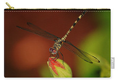 Carry-all Pouch featuring the photograph Dragonfly On Hibiscus by Leticia Latocki