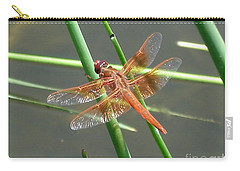 Carry-all Pouch featuring the photograph Dragonfly Orange by Kerri Mortenson
