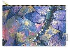 Carry-all Pouch featuring the painting Dragons  by Megan Walsh