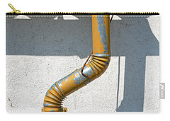 Drainpipe White Structured Wall  Carry-all Pouch