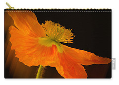 Dramatic Orange Poppy Carry-all Pouch by Don Schwartz