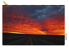 Carry-all Pouch featuring the photograph Dramatic Sunrise by Lynn Hopwood