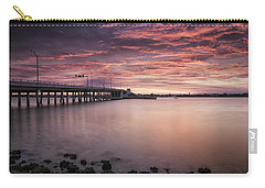 Drawbridge At Dusk Carry-all Pouch by Fran Gallogly