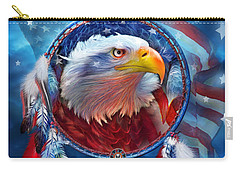 Dream Catcher - Eagle Red White Blue Carry-all Pouch