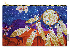Dreamcatcher Over The Mesas Carry-all Pouch by Ellen Levinson