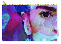 Carry-all Pouch featuring the painting Dreaming Of Frida - Art By Sharon Cummings by Sharon Cummings