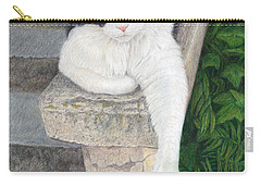 Carry-all Pouch featuring the painting Dreaming Of Stone Lions by Pat Erickson