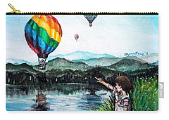 Carry-all Pouch featuring the painting Dreams Do Come True by Shana Rowe Jackson