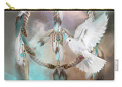 Carry-all Pouch featuring the mixed media Dreams Of Peace by Carol Cavalaris