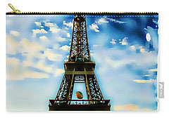 Carry-all Pouch featuring the photograph Dreamy Eiffel Tower by Kathy Churchman