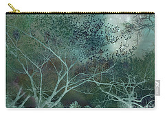 Dreamy Surreal Fantasy Teal Aqua Trees Nature  Carry-all Pouch