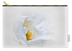 Dreamy White Rose Carry-all Pouch by Jane McIlroy
