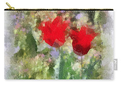 Carry-all Pouch featuring the painting Dressed In Red  by Kerri Farley