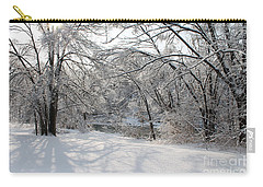 Carry-all Pouch featuring the photograph Dressed In Snow by Nina Silver