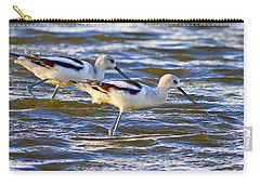 Carry-all Pouch featuring the photograph Dribbling Contest by Gary Holmes