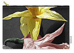 Carry-all Pouch featuring the photograph Dried Daffodils by Nina Silver