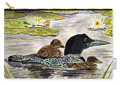 Drifting Among The Waterlilies Carry-all Pouch by Angela Davies
