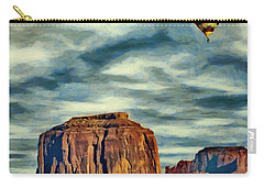 Drifting Over Monument Valley Carry-all Pouch by Jeff Kolker