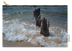 Driftwood And Sea Foam Beach Carry-all Pouch