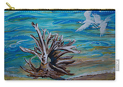 Driftwood On Lake Huron Carry-all Pouch