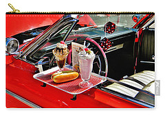 Drive-in Diner Carry-all Pouch by Jean Goodwin Brooks