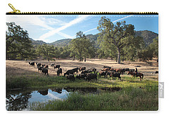 Drivin' Cattle Carry-all Pouch by Diane Bohna