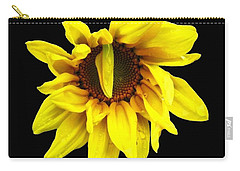 Droops Sunflower With Oil Painting Effect Carry-all Pouch by Rose Santuci-Sofranko