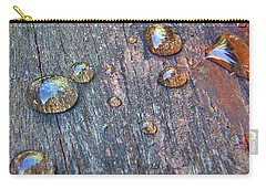 Drops On Wood Carry-all Pouch