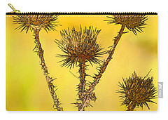 Dry Brown Thistle Carry-all Pouch