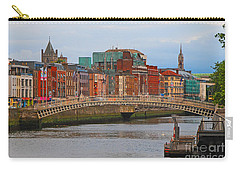 Dublin On The River Liffey Carry-all Pouch by Mary Carol Story