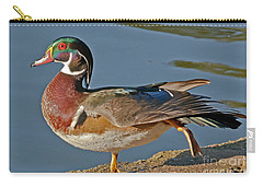 Carry-all Pouch featuring the photograph Duck Yoga by Kate Brown