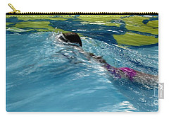 Ducking Under A Wave In A Pool Carry-all Pouch by Kerri Mortenson
