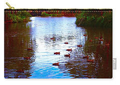 Ducks  Carry-all Pouch by Mark Blauhoefer