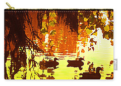 Ducks On Red Lake Carry-all Pouch