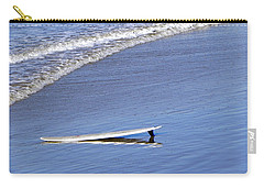 Dude Where Is My Surfer Carry-all Pouch by Kathy Churchman
