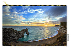 Durdle Door Sunset Carry-all Pouch by Ian Good