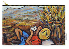 Carry-all Pouch featuring the painting During The Break by Xueling Zou