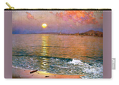 Dusk Over Coast Of Malaga Carry-all Pouch by Pg Reproductions