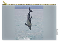 Dusky Dolphin, Kaikoura, New Zealand Carry-all Pouch by Venetia Featherstone-Witty