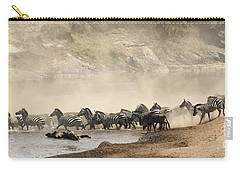 Carry-all Pouch featuring the photograph Dusty Crossing by Liz Leyden