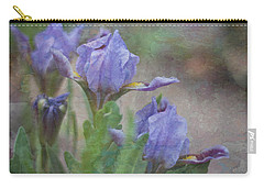 Carry-all Pouch featuring the photograph Dwarf Iris With Texture by Patti Deters