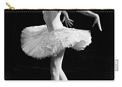 Dying Swan I. Carry-all Pouch by Clare Bambers