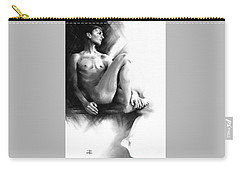 Carry-all Pouch featuring the drawing Dylan by Paul Davenport