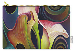 Dynamic Floral 4 Cala Lillies Carry-all Pouch