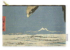 Eagle Over One Hundred Thousand Acre Plain At Susaki Carry-all Pouch by Hiroshige