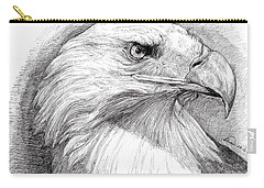 Eagle Portrait Carry-all Pouch by Alban Dizdari