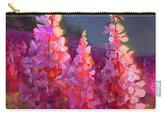 Eagle River Summer Chickadee And Fireweed Alaskan Landscape Carry-all Pouch