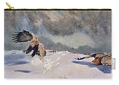 Eagles And Rabbit, 1922 Carry-all Pouch by Bruno Andreas Liljefors