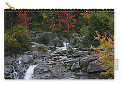 Carry-all Pouch featuring the photograph Early Fall Waterfall by Denyse Duhaime