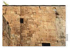 Carry-all Pouch featuring the photograph Early Morning At The Jaffa Gate by Doc Braham